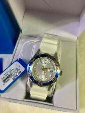 TechnoMarine TM-PM-014 Silver Dial White Silicone Ladies Watch
