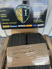 225/40/18 x2 Continental Sport Contact 6 94y 6.13mm Tread PART WORN TYRE
