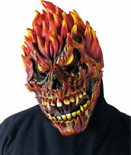Morris Costumes Fearsome Faces Horror Scary Fire Latex Skull Mask. FW93218S