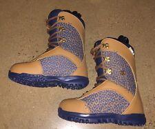 DC Karma Snowboard Boots Leopard Print Women's Size 5 US