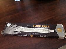 1962 Pickett Trainer Engraved Plastic Slide Ruler W Case & Instructions No.120