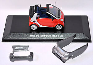 Smart Fortwo Cabrio 2003-07 Facelift A450 Red+Gray Phat Red + Bay Grey 1:43