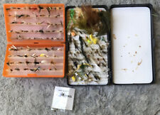 Assortment 180+ Fly Fishing Flies In Boxes! Nice Huge Lot! Frog, Caddis, Hopper