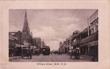 VINTAGE POSTCARD WILLIAM ST PERTH WESTERN AUSTRALIA  1900s