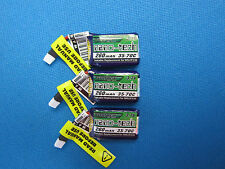 3 LIPO BATTERY UPGRADE JJRC H36 EACHINE E010 E010C 260mAh 3.7V 1S 35C NANO-TECH