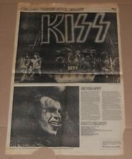 KISS 1978 Illinois Alive 2 In Concert Newspaper Poster 14x23 Aucoin Gene Ace