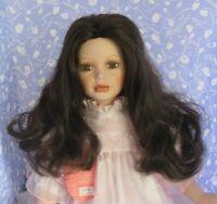 Monique MARIE Dark Brown Full Adj. Cap Size 12-13 Long Curl