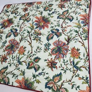 2 Waverly Williamsburg Garden Image STANDARD Pillow Shams Cream Green FloraL EUC