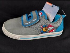 Nickelodeon Paw Patrol Toddler Boy's Chase/Marshall Shoes Gray/Blue Size 10 NWT