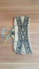 Märklin H0 M Gleis 5128 elektrische Doppelkreuzung Weiche mit Licht geprüft
