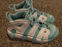 Nike Air More Uptempo Island Green GS Size 4.5Y White Scottie Pippen 415082-300