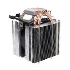 3-Pin  130W 4 Heatpipe Red CPU Cooler Fan Heatsink For Intel LGA2011 AMD AM2 754