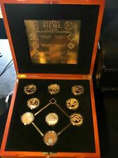 Highland Mint BOSTON RED SOX 6 WORLD SERIES Commemorative 24 KT Gold Coin Set