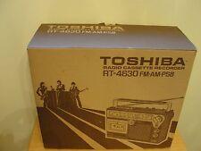 VINTAGE TOSHIBA RT-4630 AM,FM PSB RADIO CASSETTE RECORDER