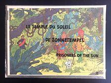 Rare Ancien puzzle du chèque Tintin des années 70  Le Temple du Soleil NEUF