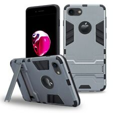 Minimalist Kick-Stand Case Compatible with iPhone 8 Plus, Rugged Defender Armor