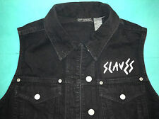 Slaves Girls Denim Cut-Off Waistcoat Vest Punk Hey! Hunter Are You Satisfied?