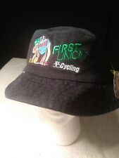Vtg 90s First Union Banking boonie hat cycling flexfit new tags embroiderd