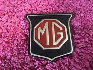 MGB 1962-1970 , MG Midget Front Grille Badge (Black & Red) 1962-1969 ARA2148