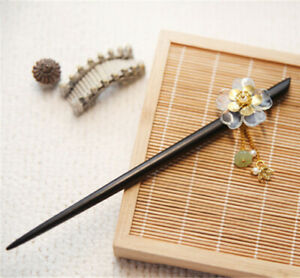 Japan Traditional Sakura Hair Clasp For Kimono Accessory Jade Tassel Hair Stick
