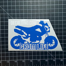Grom Life Decal - Sticker for Honda MSX125 wrap parts exhaust race carbon fiber