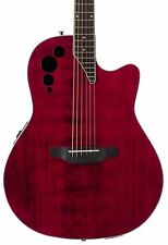 Ovation Applause 6 String Acoustic-Electric Guitar, Right, Ruby Red, Mid...