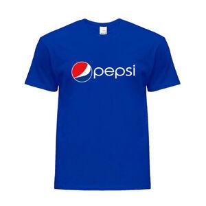 New Pepsi Logo Printed Fans Tee Crew Neck Cotton T-shirt Unisex