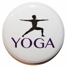 """1"""" (25mm) YOGA Button Badge Pin - Sport & Fitness Gift - MADE IN UK"""