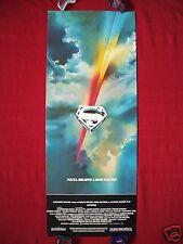 SUPERMAN * 1978 ORIGINAL MOVIE POSTER INSERT RARE FULL BLEED CHRISTOPHER REEVE