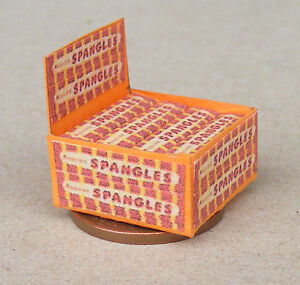 1:12 Scale Display Box Of Fruit Spangles Packets Tumdee Dolls House Sweets