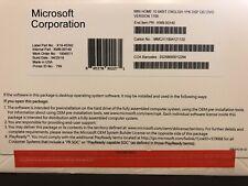 Microsoft Windows 10 Home 64-bit -OEM Bread New, Sealed Full Version (KW9-00140)