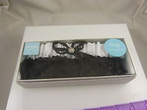 sexy black and white bling crystal garter for wedding costume fancy lace mardi g
