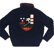 POLO RALPH LAUREN DOWNHILL SKIER JACKET INDIAN BEAR VTG PWING