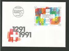 Suisse FDC 1991 oeuvre originale Croix suisse oblit. Bern /L3309