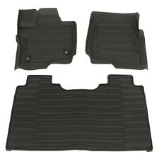 2015-2018 Ford F-150 Super Crew Cab All Weather Rubber Floor Mats Black OEM NEW