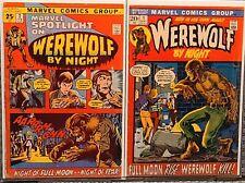 MARVEL SPOTLIGHT 2 +Werewolf by Night 1! 1st,2nd App,Origin ! 🔥KILLER KEYS!!!🔥