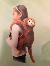 "BROWN Chimp Backpack Kiwi Chimpanzee Monkey 19"" Stuffed Plush Animal UP1875MKBR"