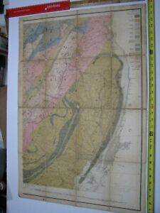 Map Northern New Jersey Iron and Limestone 1878 Dingmans Ferry to Jersey City