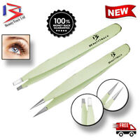 Professional Eyebrow Tweezers Hair Beauty Slanted Stainless Steel Tweezer Tools