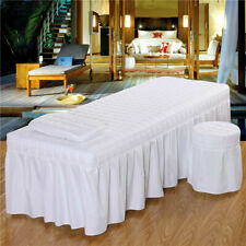 Massage Table Skirt Bed Valance Sheet SET Face Hole Beauty Bed Linen 70/185cm B2