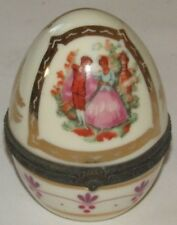 Limoges Porcelain Gold Egg Hinged Box Victorian Design - Collectible