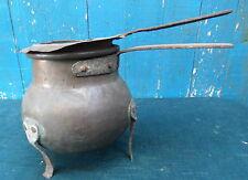 ancien POT A COLLE en CUIVRE Bain-Marie Menuisier Ebeniste Copper tool XIXéme
