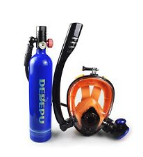 Scuba Full Face Diving Mask Scuba Oxygen Tank WITH Manual Oxygen Pump included