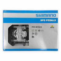 "NIB New Shimano PD-M324 SPD Dual Platform Mountain Bike Clipless Pedal Set 9/16"""