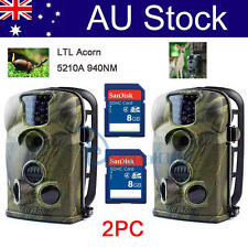 2PC Ltl Acorn 5210A Scouting Trail IR Hunting Camera Farm Monitor Security + 8GB