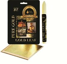 Adhesive glue  leafing Pen kit with 10 gold Leaf Sheets arts craft lettering