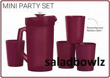 TUPPERWARE New MINI SERVING PARTY PLAY SET Pitcher Tumblers Sparkle Kids fREEsHP