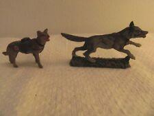 Elastolin Militär Massefiguren 2 Hunde - Sanitätshunde