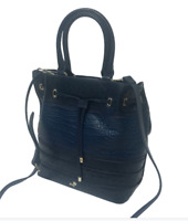 Jack French London Sloane Multi Leather Navy Ladies Handbag RRP £252