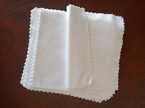 White Eyeglasses Microfiber Cotton Cleaning Fabric 50 Pieces